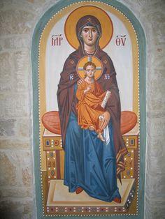 Byzantine Icons, Byzantine Art, Virgin Mary, Art Icon, Love Mom, Orthodox Icons, Our Lady, Fresco, Madonna