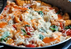 Butternut squash gnocchi skillet...homemade butternut squash gnocchi tossed with white beans, wilted spinach or kale, diced tomatoes and garlic and topped with mozzarella cheese