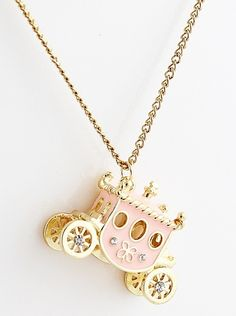 Cinderella's carriage necklace