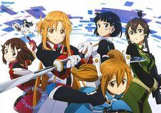 Rika, Asuna, Yui, Ayano, Suguha & Shino ~ Ordinal Scale
