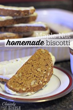 Have you ever made biscotti?  You'll be amazed at how easy it is.  Here's a fabulous homemade maple nut biscotti recipe to try!