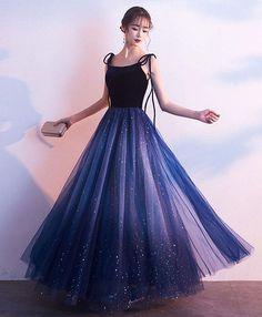Pretty Prom Dresses, Cheap Bridesmaid Dresses, Prom Dresses Blue, Ball Dresses, Elegant Dresses, Cute Dresses, Beautiful Dresses, Dark Blue Prom Dresses, Teen Dresses