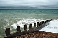 Shingle beach at Eastbourne, east sussex,