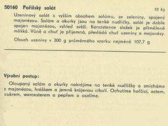 Technický popis pařížského salátu