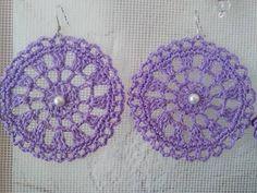 Diy Earrings Easy, Unique Earrings, Jewelry Crafts, Handmade Jewelry, Crochet Earrings, Beaded Earrings, Crochet Buttons, Earring Tutorial, Button Earrings