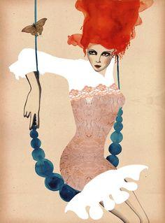 Fashion illustration by Peggy Wolf
