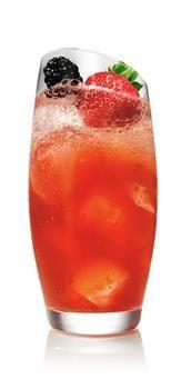SVEDKA Vodka Cocktails – Drink recipes - STRAWBERRY COLADA BERRY COLLINS