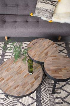 Combinatie van salontafeltjes TEAK @Oudisnieuw
