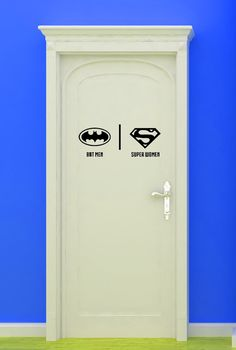 Bat, Super Woman, Women, Bathroom, Restrooms, Sign, Superhero, Vinyl, Sticker, Wall Art, home, bedroom, nursery, kid's decor on Etsy, $16.00