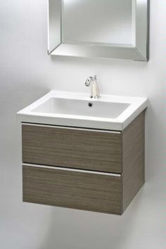 """Empire Industries Empire Mirage 21"""" Wall-Hung Vanity WMM21-02 :: Bath Vanity from Home & Stone"""