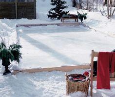 Backyard Ice Skating Rink - House & Home