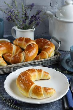 Hungarian Desserts, Hungarian Recipes, Breakfast Diner, Breakfast For Kids, Homemade Croissants, Serbian Recipes, Savarin, Baking And Pastry, Winter Food