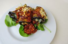Aubergine rolls stuffed with spinach and ricotta - all the things that make me….. me