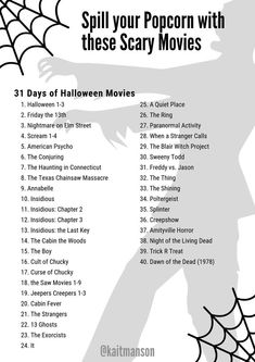 Spill your Popcorn with these Spooky Halloween Movies