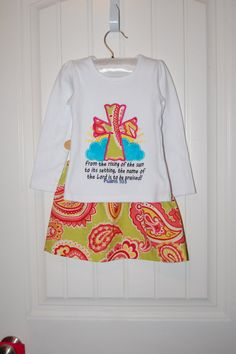 Girls 2 piece Easter outfit Size 3T by TheFoxyFlamingo on Etsy, $20.00