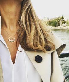 Sun short pendant #antoniakarra #pendant #paris