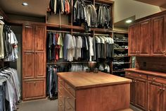 This closet is featured in a luxurious hillside estate set atop Paradise Valley, Arizona's Mummy Mountain.