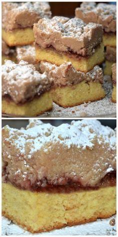 Raspberry Shortcut Crumb Cake - Hugs and Cookies XOXO