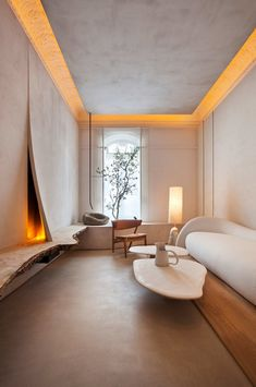 Wabi-Sabi Interior designed by Lorna de Santos – Design. Home Design, Home Interior Design, Interior Architecture, Interior And Exterior, Futuristic Architecture, Interior Lighting Design, Interior Wall Lights, Interior Shop, Interior Colors