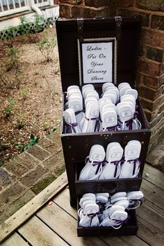 "Provide ""dancing shoes"" for your guests! The post Love Story: Jenna & Rodderick in Adairsville, GA appeared first on Woman Casual - Wedding Gown Trendy Wedding, Fall Wedding, Wedding Reception, Our Wedding, Dream Wedding, Wedding Entrance, Casual Wedding, Wedding Ideas, Elegant Wedding"