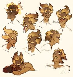 some junkrat expressions because drawing him brings joy to my soul. love this burnt crispy boy