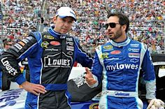 Caption this photo of No. 48 crew chief Chad Knaus and Jimmie Johnson. Winner will be announced on May 7.