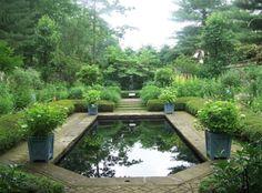 Stan Hywet Gardens – Akron, Ohio – English Garden with a formal pond