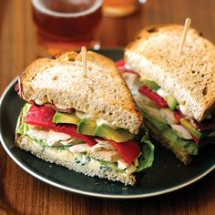 Chicken, Bacon, and Blue-Cheese Sandwiches | MyRecipes