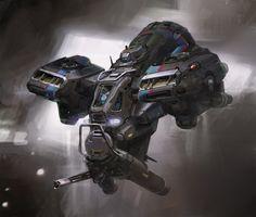 Concept ships by John Wallin Liberto