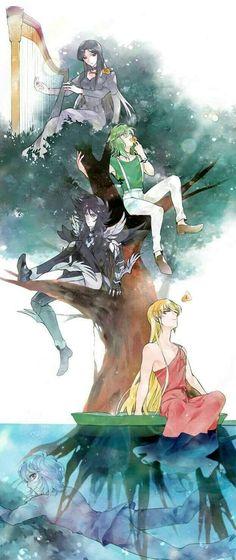 Pandora,Shun,Hades y Shaka  ~Shun