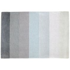 Kids' Rugs: Kids Grey & Blue Broad Stripe Wool Rug in All Rugs | The Land of Nod