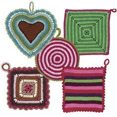 grytlapp bak Crochet Potholders, Knit Crochet, Pin Cushions, Knit Patterns, Pot Holders, Crochet Earrings, Presents, Homemade, Knitting