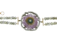 Meira T - Amethyst Geode Bracelet great colors for this fall and spring #RadiantOrchid #Pantone