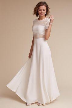 White Benson Dress   BHLDN