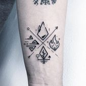 ✖️Four element✖️. Done in London N. # Tatoo # Picture # Ah … – Tattoo Drawings Hand Tattoos, Body Art Tattoos, Sleeve Tattoos, Tatoos, Element Tattoo, Norse Tattoo, Viking Tattoos, Four Elements Tattoo, Geometric Tattoo Elements