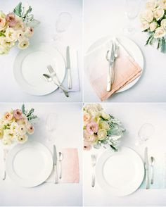 ombre napkins in the perfect shade of peachy blush