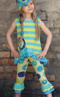 Zaza Couture Girls Blueberry Capri Set! Kayla has this one, Love it!!