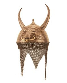 Horned kulah khud (helmet), possibly mid-1800s India  Higgins Museum