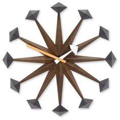George Nelson Polygon Wall Clock - modern - clocks - by AllModern