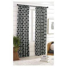 Threshold™ Farrah Fretwork Curtain Panel ** Jay likes, in blue