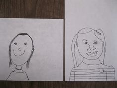 pre and post 'test' in self portraits