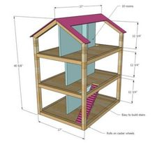 DIY doll house by using a shoebox - There are different methods of making doll houses using different material. The easiest is to make a DIY doll house by using shoebox. These doll house. Dreamhouse Barbie, Barbie Doll House, Barbie Dream House, Wooden Barbie House, Dream Doll, Barbie Furniture, Dollhouse Furniture, Furniture Projects, Furniture Plans