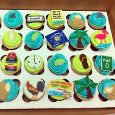 Key West themed cupcakes