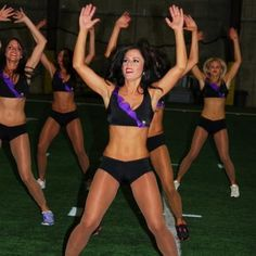 NFL Cheerleaders Workout  JACKS  Continuing with the plyos, the girls did some plain ol' jumping jacks