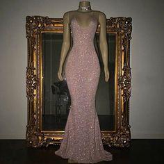 Custom Made Luscious Evening Dress Long Pink Sequin Mermaid Long Prom Dress, Sequin Evening Dress Cute Prom Dresses, Prom Outfits, Mermaid Prom Dresses, Mode Outfits, Elegant Dresses, Homecoming Dresses, Pink Dresses, Party Dresses, Graduation Dresses