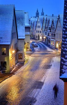 Snowy Rothenburg – Bavaria, Germany