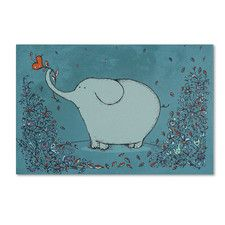 """""""Garden Elephant"""" by Carla Martell Graphic Art Gallery Wrapped on Canvas"""