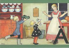 Scandinavian Christmas, Illustration Art, Vintage Illustrations, Vintage Children, Martini, Vintage Art, Childrens Books, Illustrators, Holiday Cards