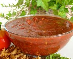 I had a lot of tomatoes this year and after trying other marinara sauces, I came up with this one. We like a little spicy. You can also use canned tomatoes for this recipe. Try this sauce with Recipe #23713-its wonderful.