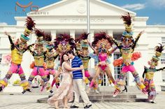 Pre nuptial Shoot featuring our Bacolod MassKara Festival Dancers.  Bacolod City PHILIPPINES